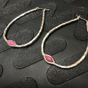 Lucky Brand teardrop hoop earrings